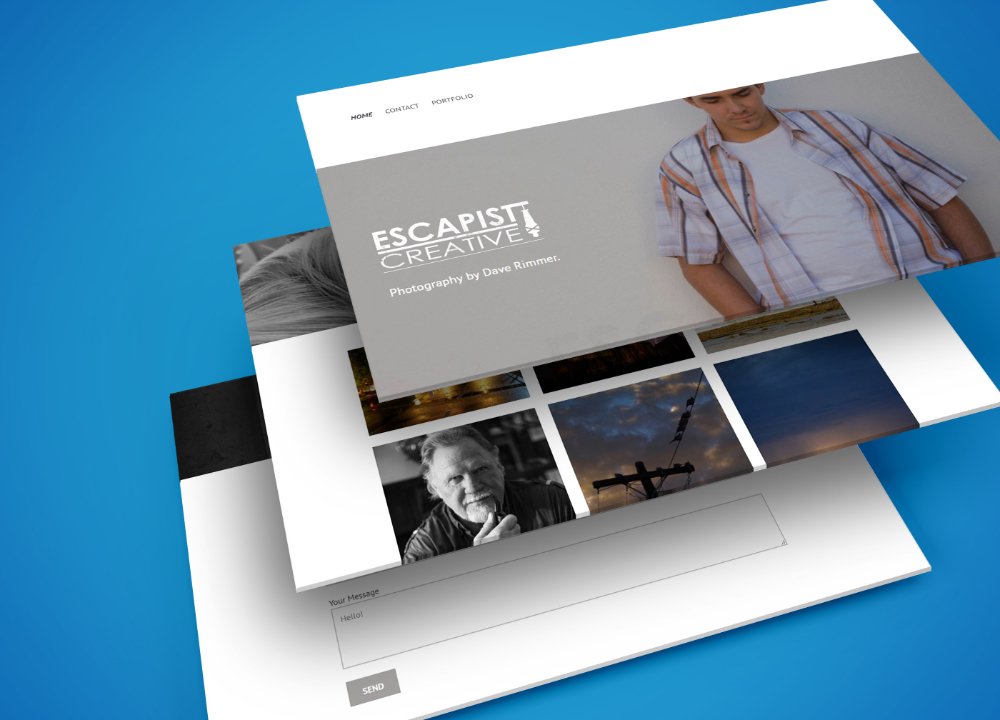Bendigo web design portfolio image of Escapist Creative website on desktop