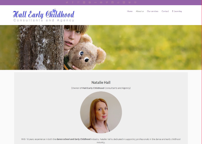 Hall Early Childhood website image link