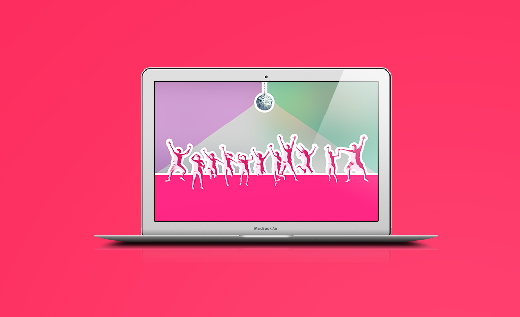 Keep customers on the website longer disco party image