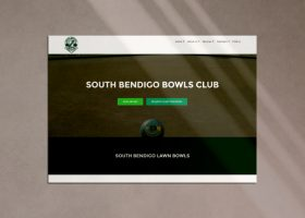 Bendigo web design portfolio image SBBC South Bendigo Bowls Club Desktop